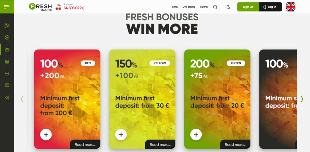 Fresh Casino Bonus Codes