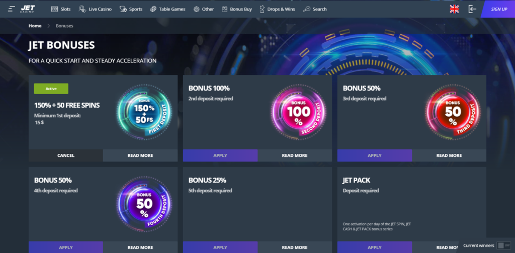 Jet Casino Bonus Codes