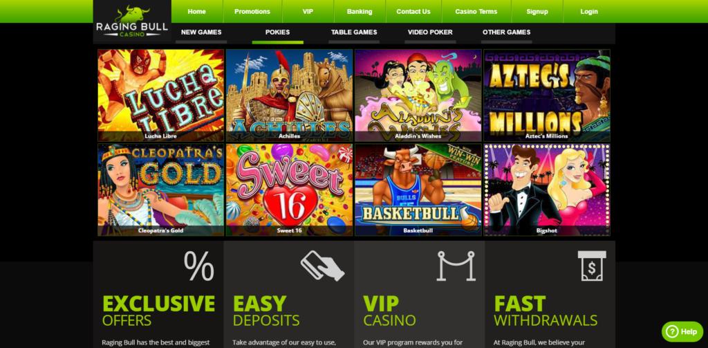 Raging Bull Casino Games