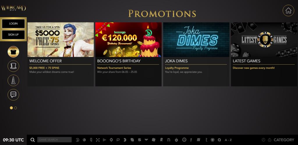 Wild Card City Casino Bonus Codes