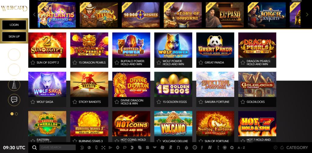 Wild Card City Casino Games