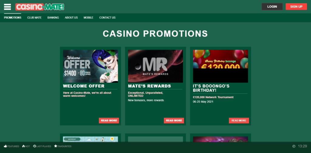 Casino-Mate Bonus Codes