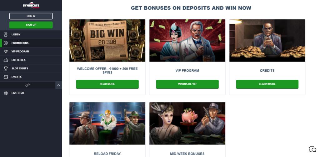 Syndicate Casino Bonus Codes